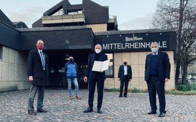 """Hoch: """"Gute Nachricht aus Mainz: 1,2 Millionen Euro für Sanierung Mittelrheinhalle"""
