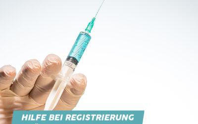 Abgeordneter Marc Ruland (SPD) hilft bei der Online-Terminregistrierung für die Corona-Impfung