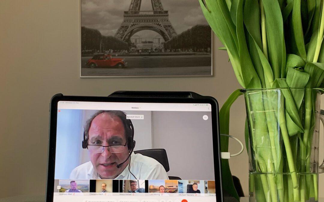 """""""2 für Mainz""""-Team, Clemens Hoch, Staatssekretär und Marc Ruland, MdL hatte die Blaulichtfamilie zum lebendigen virtuellen Dialog eingeladen"""